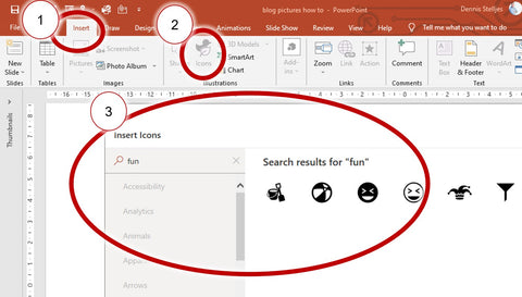 insert icon to powerpoint