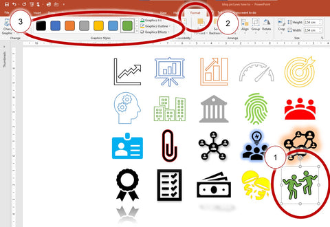 color icon Powerpoint
