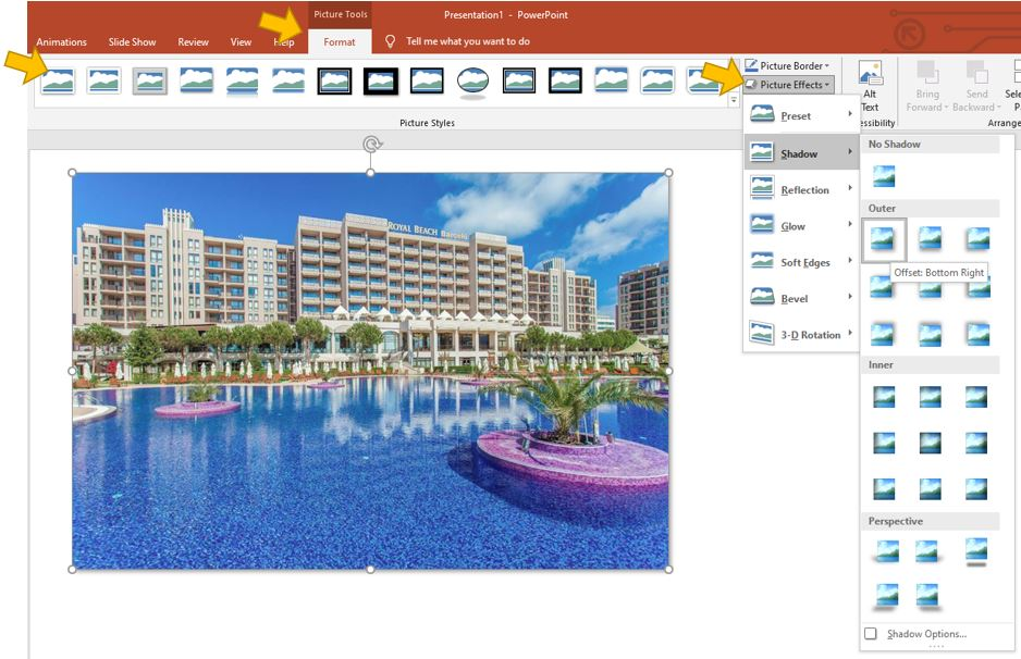 picture styles in PowerPoint - Quick tip