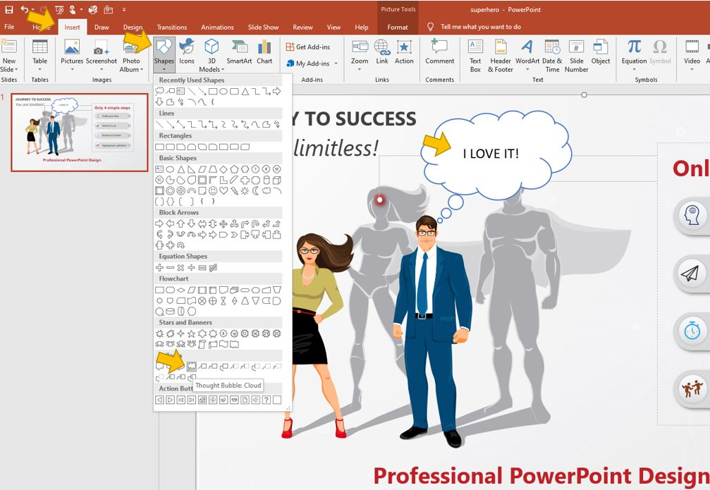 How to add speech bubbles into PowerPoint - Quick tip