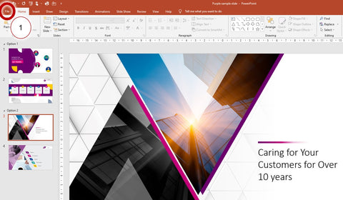 how to open templates in PowerPoint
