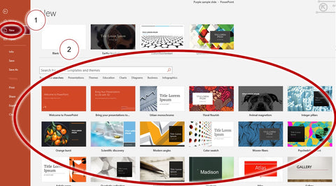 How to open templates from PowerPoint (2)