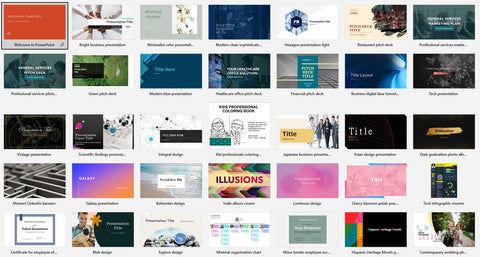 Professional PowerPoint template results