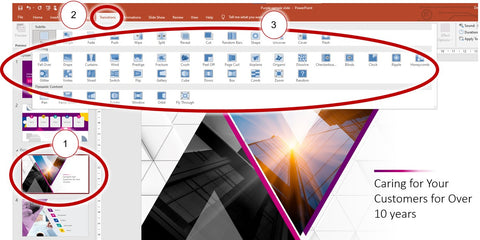 How to add transitions in PowerPoint slides