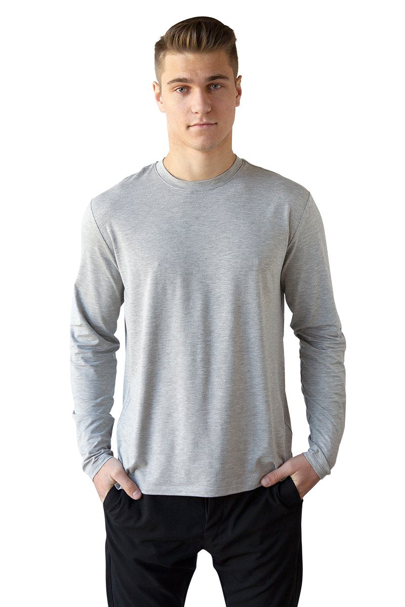 Men's Bamboo Cotton Long-Sleeve Tee - BauBax