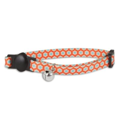 Orange Retro Cat Collar