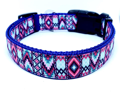 Aztec - Light Blue & Pink