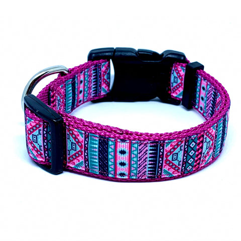 Pink Southwest Dog Collar