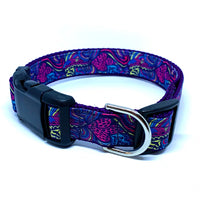 Purple Paisley Dog Collar