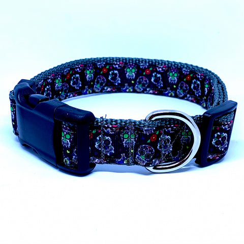 Sugar Skull Dog Collar & Leash