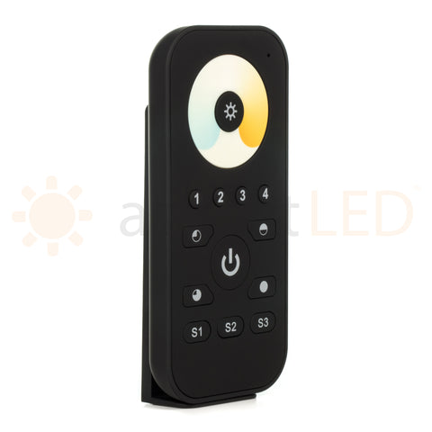 Wireless Dynamic White Color Tuning Multi-Zone LED Handheld Remote Controller