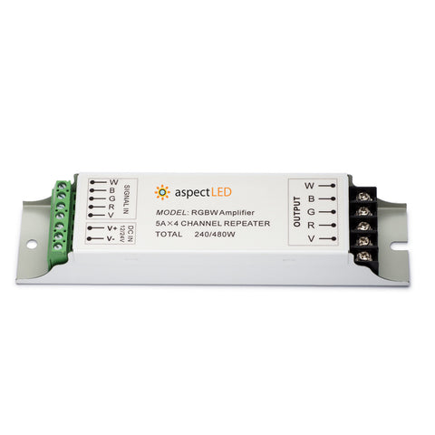RGB+W LED Driver Signal Amplifier/Repeater