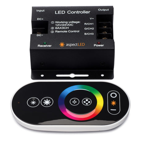 Touch Wireless Rf Color Changing Rgb Led Controller