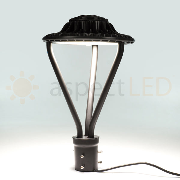 50w Round Led Post Mount Light Commercial Grade Outdoor