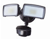 20W Modern Series Dual Head Motion Flood Light for Residential/Light Commercial
