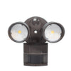 20W Dual Head Motion Flood Light for Residential/Light Commercial