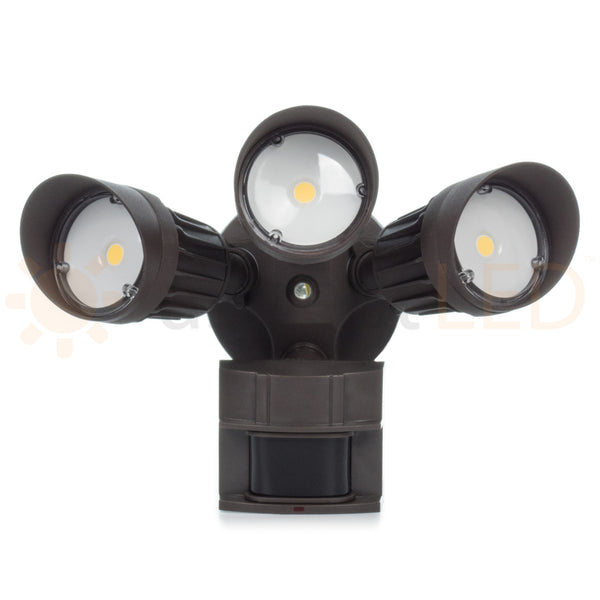 30w Triple Head Motion Activated Security Flood Light Aspectled