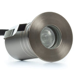 Compact In-Ground/In-Wall LED Light (Flat Bezel) - Ultra Bright (3W)