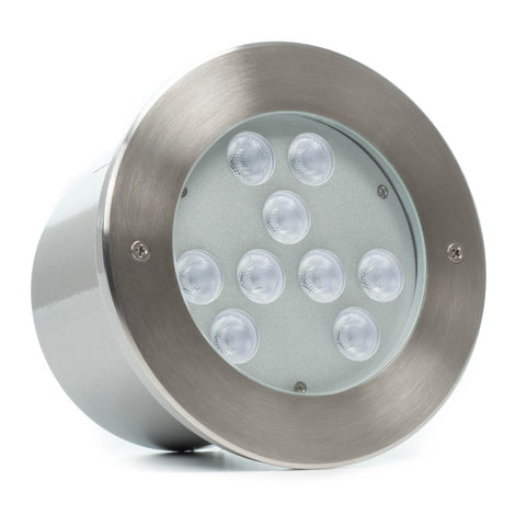 9 LED Large In-Ground/In-Wall LED Light - RGB+White (36W)