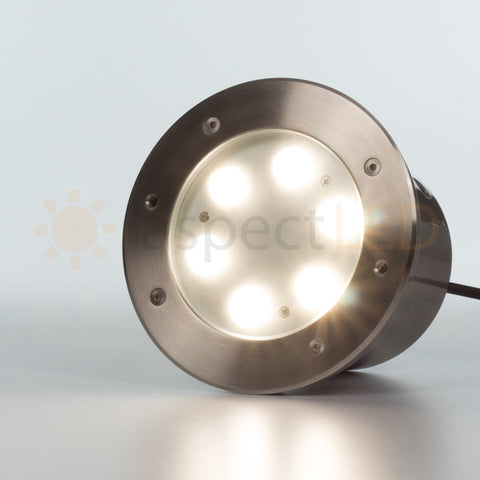 65 large in ground 6w led well light stainless steel aspectled 6 led large in groundin wall led light standard brightness aloadofball Image collections