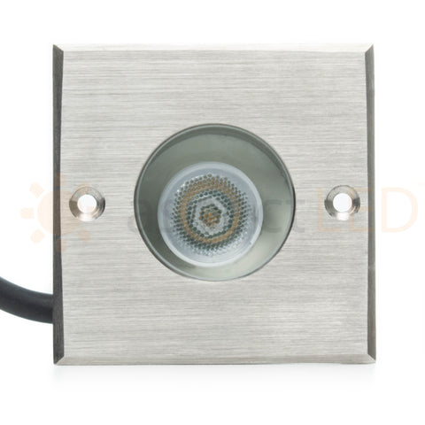 Small Square In-Ground/In-Wall LED Light - Ultra Bright (3W)