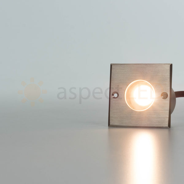 Small Square In Ground 3w Led Well Light Deck Light