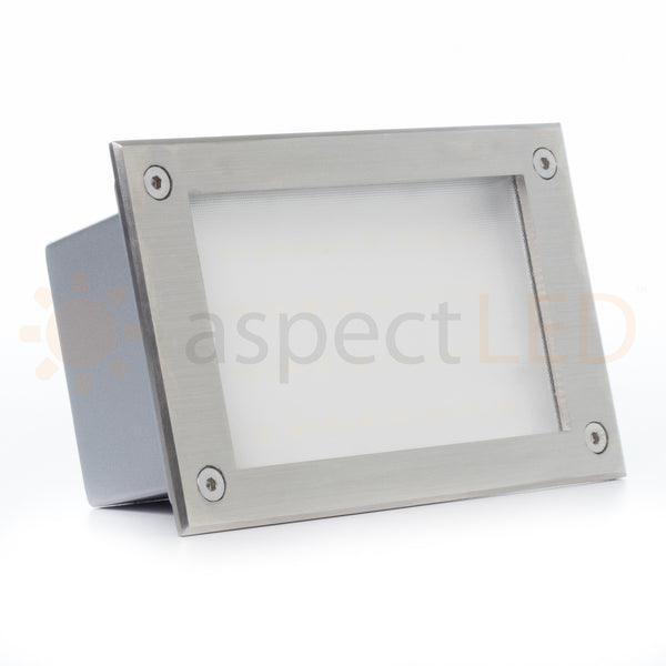In Wall Recessed Led Step Light Rect Indoor Outdoor