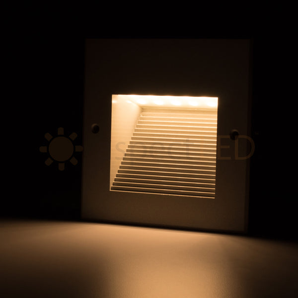 Square In Wall Recessed Led Stair Step Light Indoor