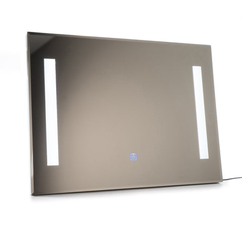 "Dual LED Backlit Electric Lighted Mirror with Touch Control - 24"" x 32"" Landscape"