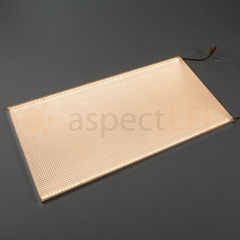 "Acrylic LED Edge-Lit Lighted Panel - 24""x12"""