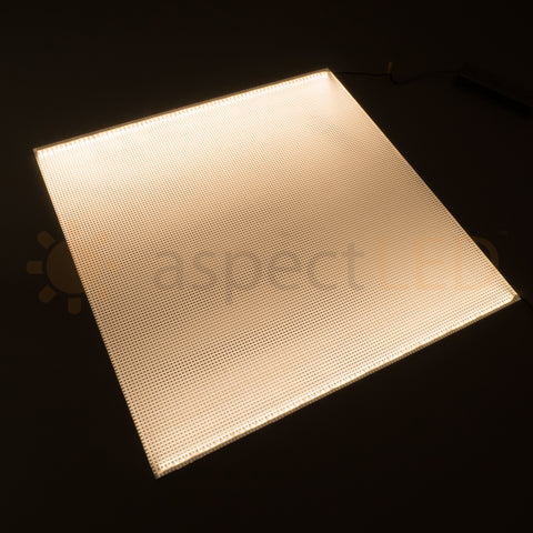 "Acrylic LED Edge-Lit Lighted Panel - 24""x24"" Square"