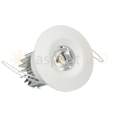 2 led niche recessed downlight ultra bright 3w aspectled white painted led recessed light keyboard keysfo Choice Image