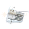 Satin nickel aluminum LED downlight