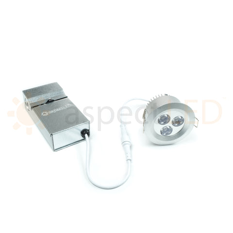 Line voltage 120 volt recessed LED lighting with built in junction box