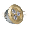 Brass/gold LED recessed light for luxury homes