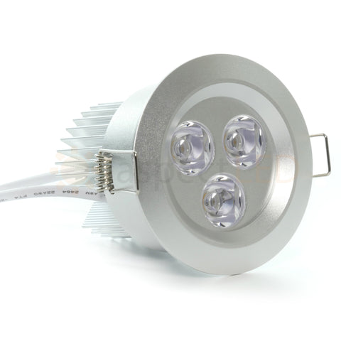 315 9 watt led recessed downlight no can needed aspectled satin nickel finish on 9w recessed led light aloadofball Gallery