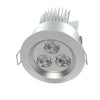 Satin nickel aluminum ultra bright LED downlight