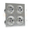 Modern Series 4 Light (12 LED) Recessed Light for Flat or Sloped Ceilings - Standard Bright (12W)