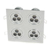 Modern Series 4 Light (12 LED) Recessed Light for Flat or Sloped Ceilings - Ultra Bright (36W)