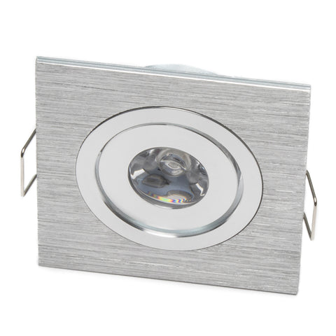 Modern Micro Series (1 LED) Recessed Light for Flat or Sloped Ceilings - 1W