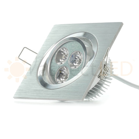 Modern Series 3 LED Recessed Light for Flat or Sloped Ceilings - Standard Bright (3W)