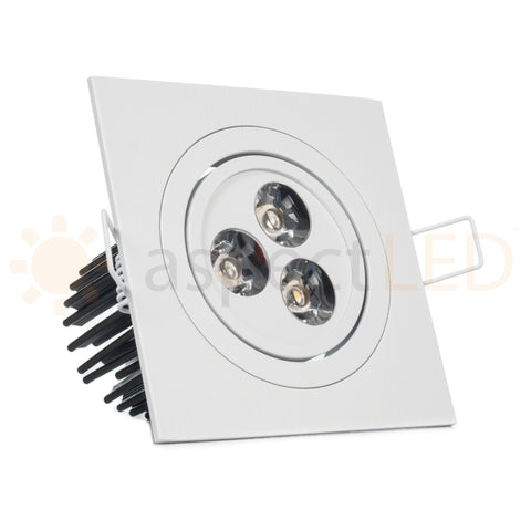 Modern Series 3 LED Recessed Light for Flat or Sloped Ceilings - Ultra Bright (9W)