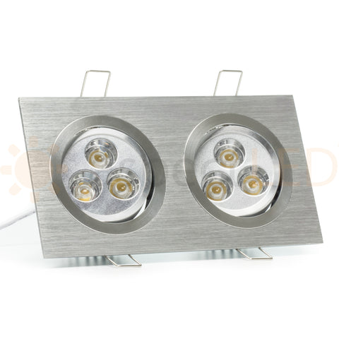 Modern Series 6 LED Recessed Light for Flat or Sloped Ceilings - Ultra Bright (18W)