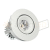 White LED recessed niche light
