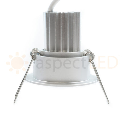 Spring clip recessed can-free lighting