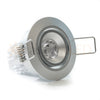Satin nickel aluminum LED gimbal downlight