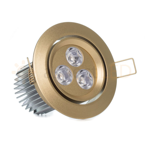 3 5 9 watt led recessed downlight with gimbal head aspectled