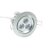 "NSF Certified 3.5"" LED Recessed Light for Flat or Sloped Ceilings - Ultra Bright (9W)"