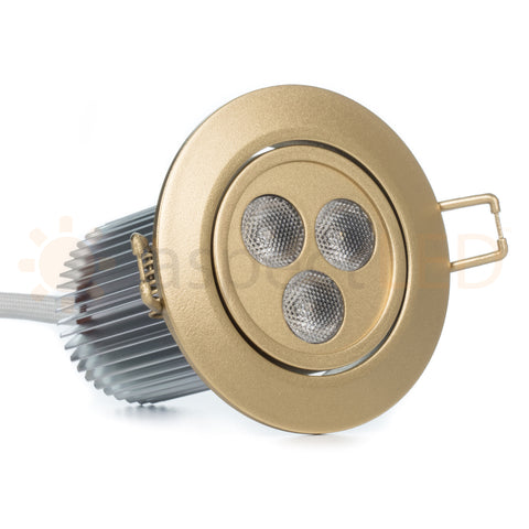 Brass/gold RGBW LED recessed light for luxury homes