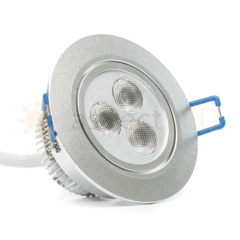 Satin nickel RGB aluminum LED downlight